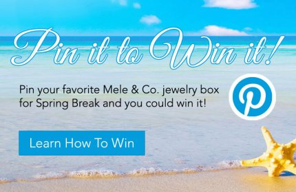 Pin your favorite Mele & Co. jewelry box for Spring Break and you could win it!