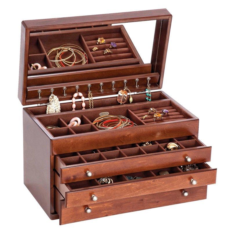 Brigitte Wooden Jewelry Box Mele Co