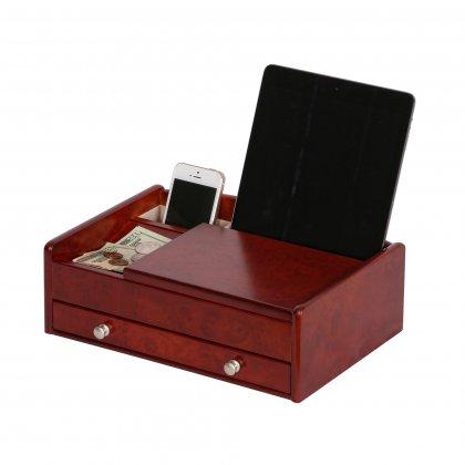 Modern Sophisticated Dark Burlwood Walnut Colored Dresser