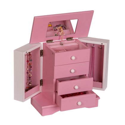 Classic Upright Children S Musical Jewelry Box In Pink